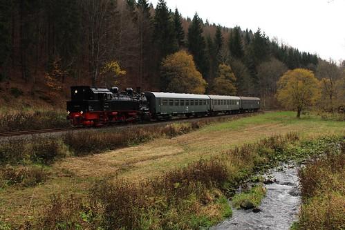 2017-10-28; 0105. Loc 94 1538 met DLr (409). Thomasmühle. Plandampf 2017. Ein Kessel Buntes.