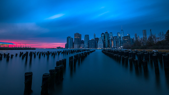 Manhattan Skyline at sunset - New York, USA - Travel photography
