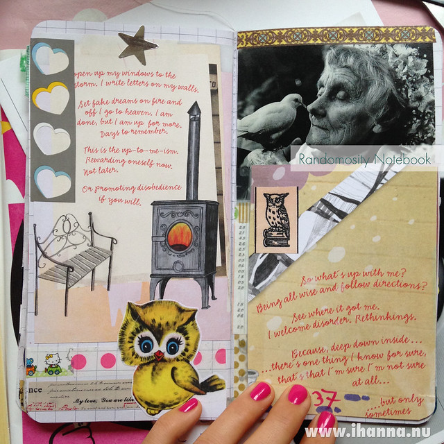 Randomosity Traveler's Notebook vol 1: Astrid Lindgren and owl
