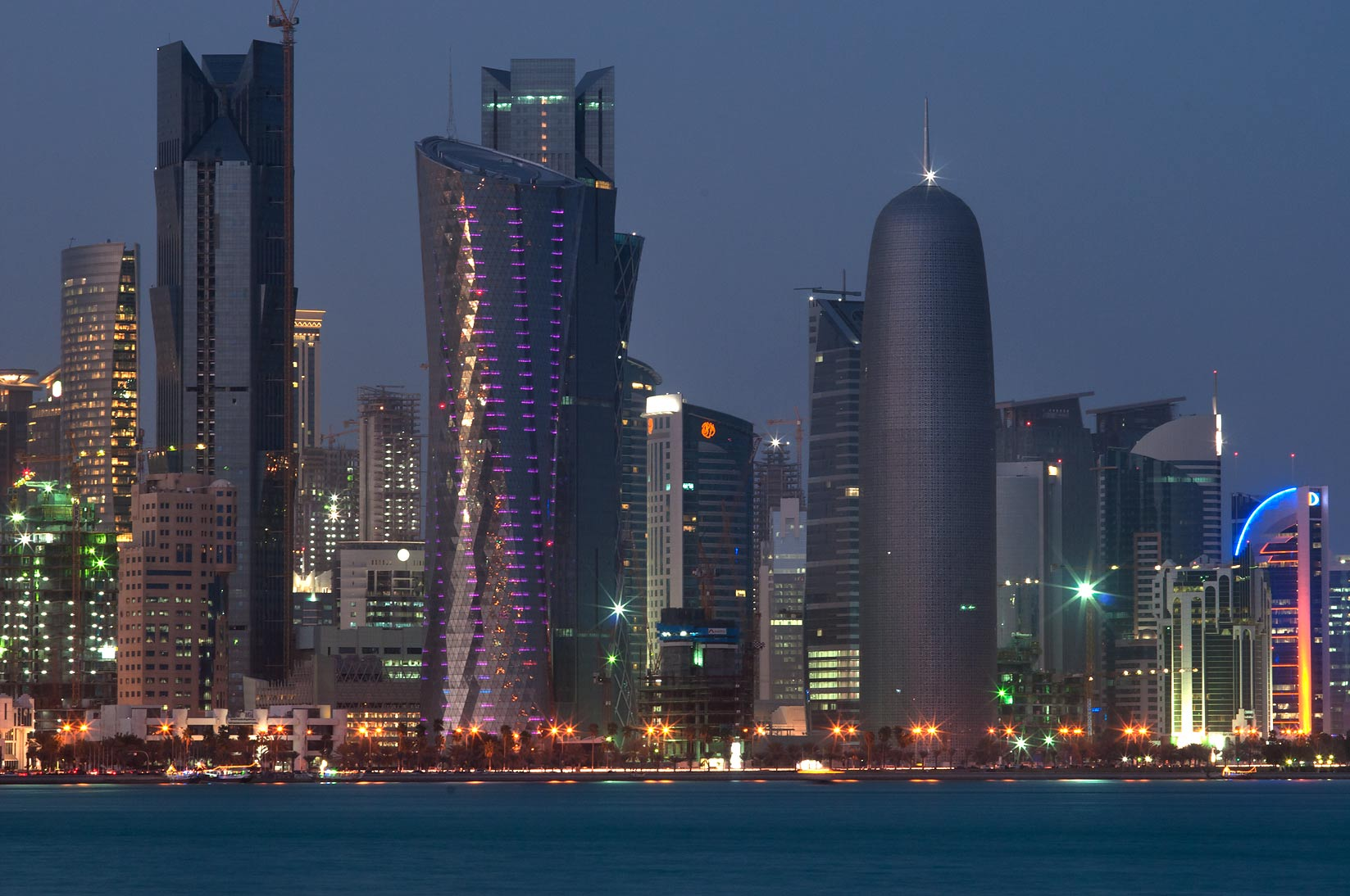 West-Bay-from-Corniche-seafront.-Doha-Qatar-...-West-Bay-from-Corniche-seafront.-Doha-Qatar-.