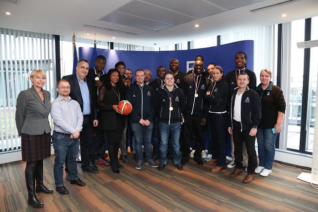 Jeudi 30 novembre : Réception de l'équipe de France masculine de basket-ball sport adapté
