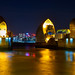 Thames Barrier and Canary Wharf, London