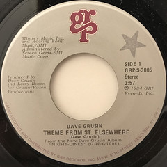 DAVE GRUSIN:THEME FROM ST. ELSEWHERE(LABEL SIDE-A)