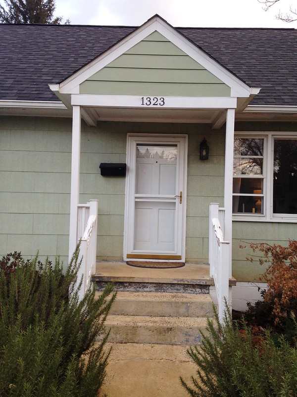Front stoop before and after