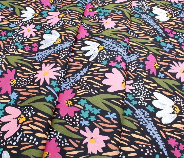 Cloud9 Fabrics Gather 100801 Midnight Garden