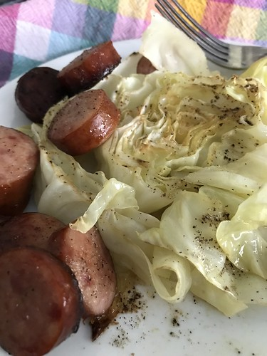 roasted kielbasa and cabbage