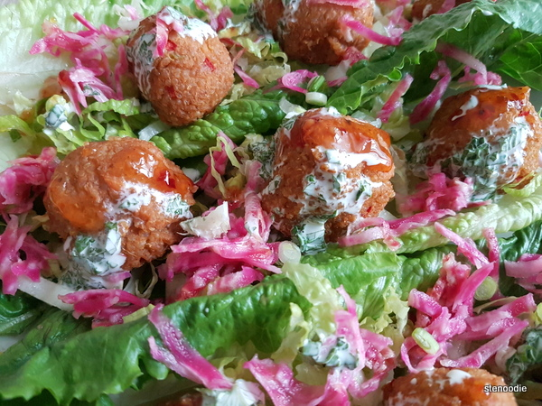 Quinoa Masala Meatballs on Lettuce Cups
