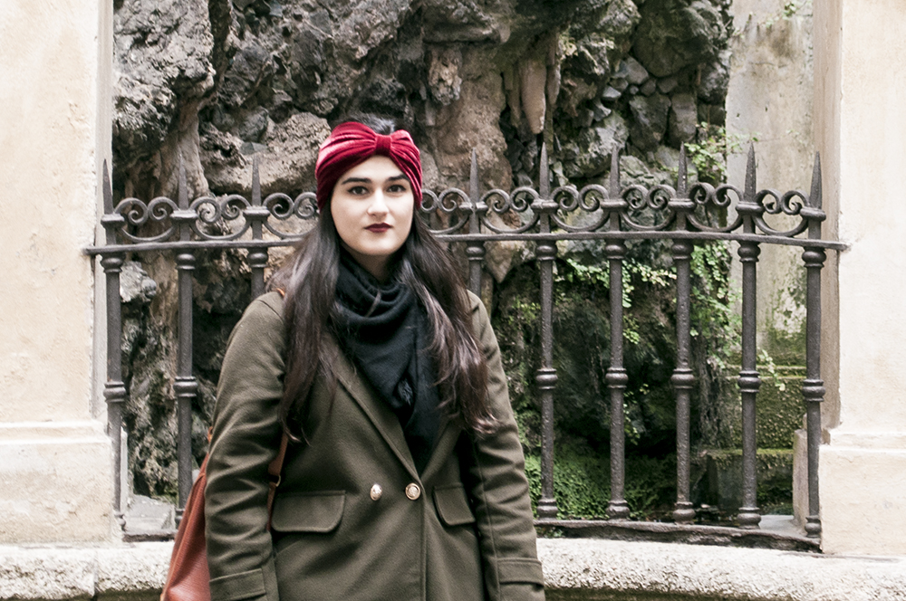 something fashion blogger influencer streetstyle firenze spain italianbloggers erasmus student genova lightinthebox coat collaboration turban winter_0637 copia