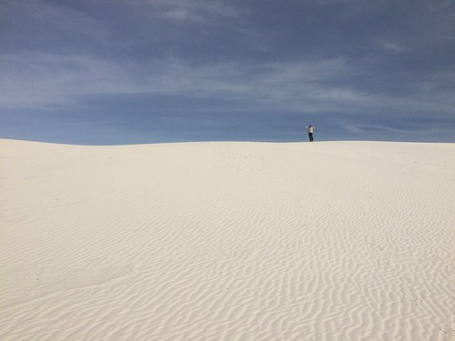 White Sands Linda on top of the dune
