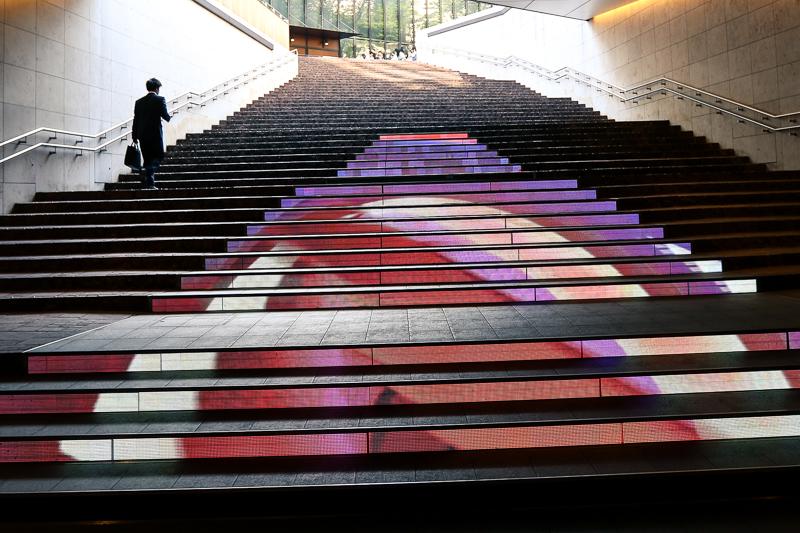 TBS Media Stairs Art