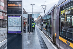 THE LUAS CROSS-CITY TRAM SERVICE CAME INTO OPERATION TODAY [LOWER DOMINICK STREET STOP]-134392