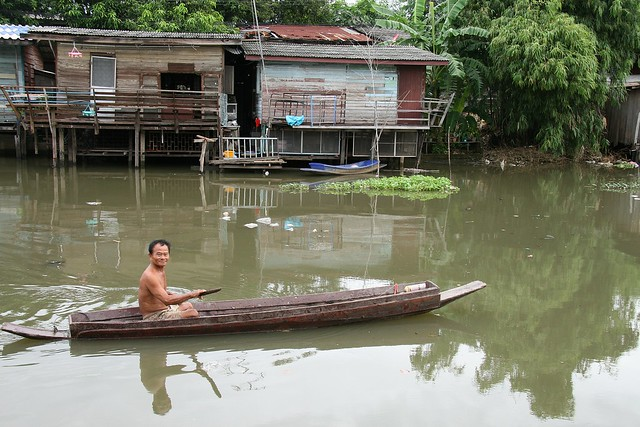 grandpa in his boat