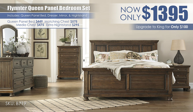 Flynnter Queen Panel Bedroom Set B719-31-36-46-58-56-97-92