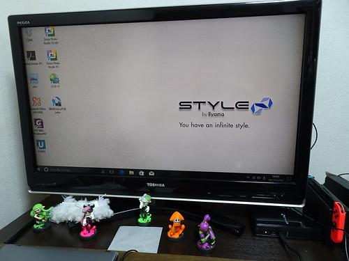 STYLE-IL11-i5S-HNVをリビングに置いてみた