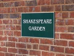 Shakespeare Garden - Lightwoods House - Lightwoods Park - sign