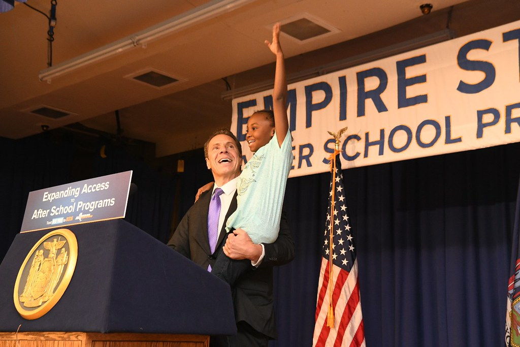 Governor Cuomo Makes an Announcement at Kenneth L. Rutherford Elementary School