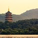 Leifeng Pagoda at sunset - La pagode Leifeng au coucher de soleil - 27/06/2017 - Hangzhou (China)
