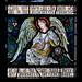 Church Eaton, Staffordshire, St. Editha, north-west window, musical angels