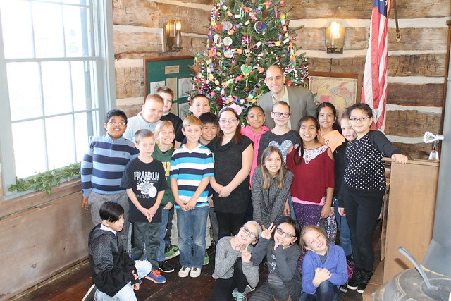 Mayor's Log Cabin Tree Decorating 2017
