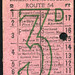 ticket - london transport buses route 54 3d
