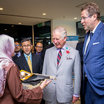 HRH Prince of Wales, visit to WorldFish, Penang. Photo by WorldFish.
