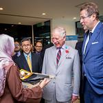 HRH Prince of Wales, visit to WorldFish, Penang. Photo by WorldFish.
