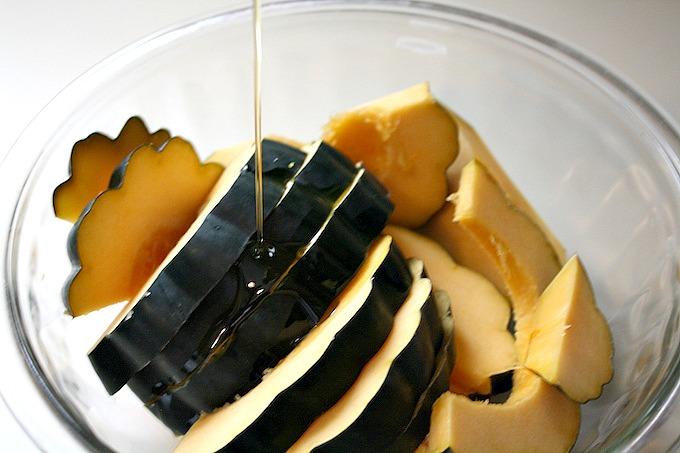 Roasted Spicy Maple Acorn Squash