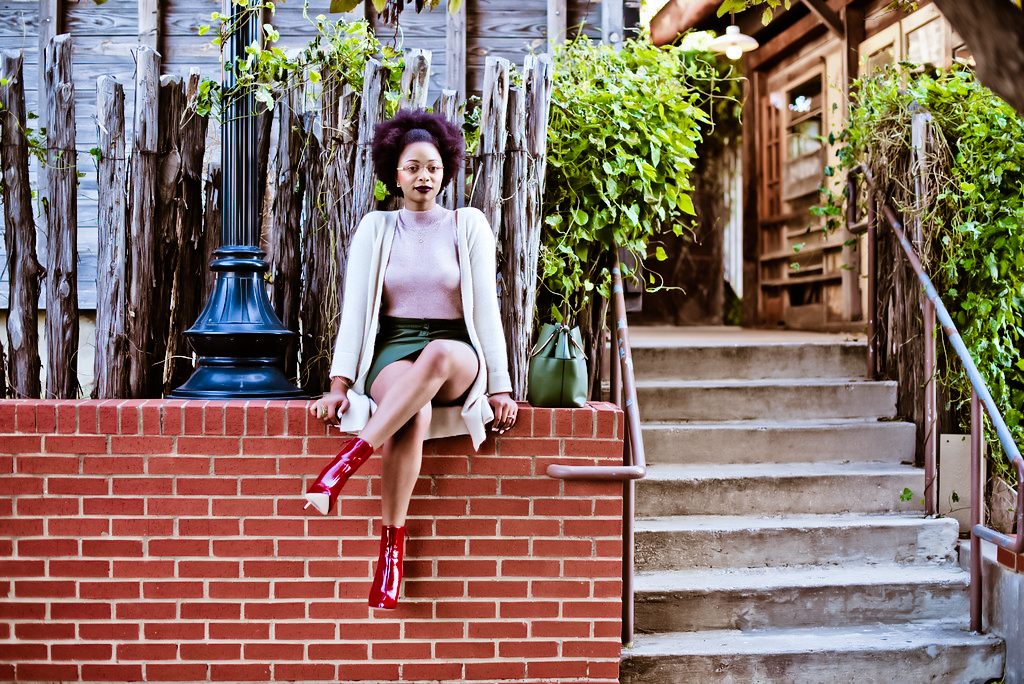 how to style red booties, candace hampton