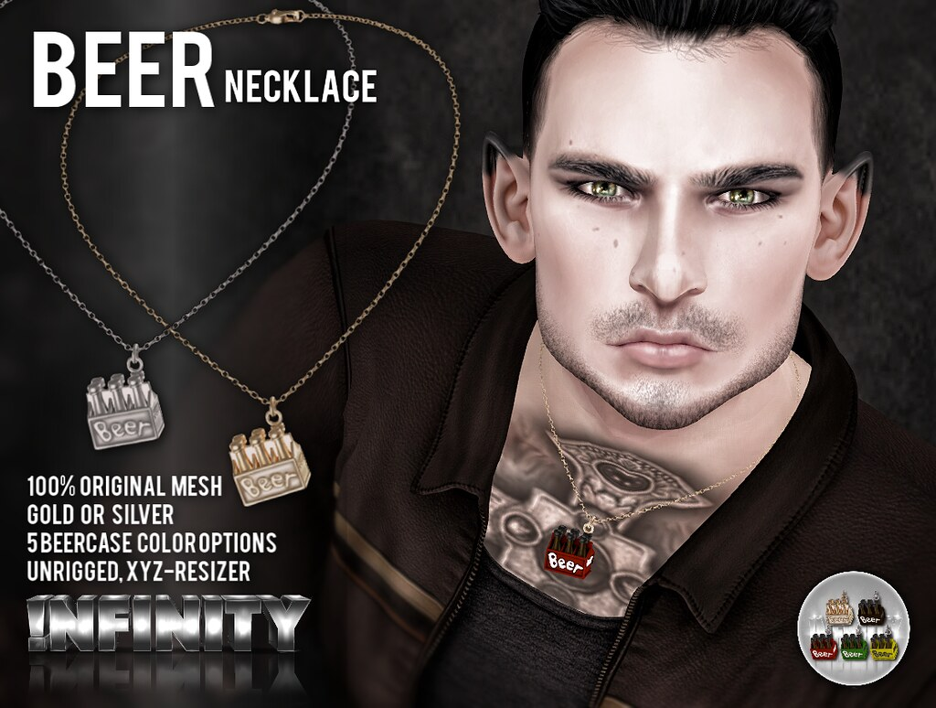 !NFINITY Beer Necklace @ HME Hipster Men's Event