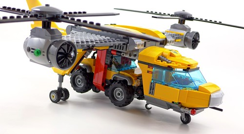 LEGO City Jungle 60162 Jungle Air Drop Helicopter 124