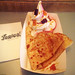 20170424_i27 Crepe & frozen yogurt with caramel sauce & gummibears at vegan ice-cream place Yorica | 130 Wardour St, London, England