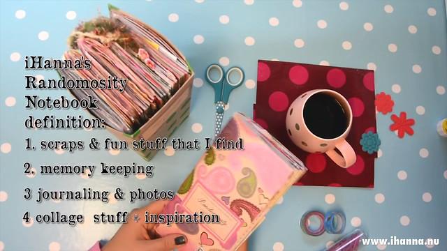 iHanna's Traveler's Notebook Randomosity Definition