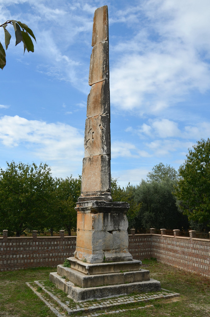 The Beştaş Obelisk, an obelisk-like funeral monument of Gaius Cassius Philieus located outside Nicaea, 1st century AD, Iznik, Turkey