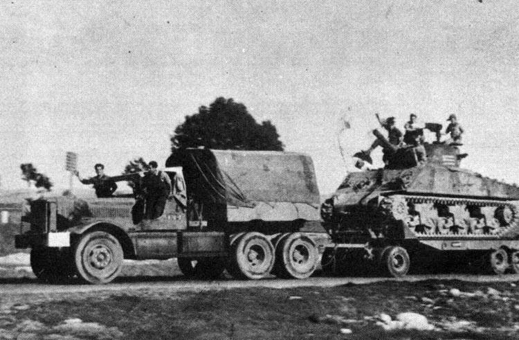 Diamond-T-with-Sherman-c1949-w-1