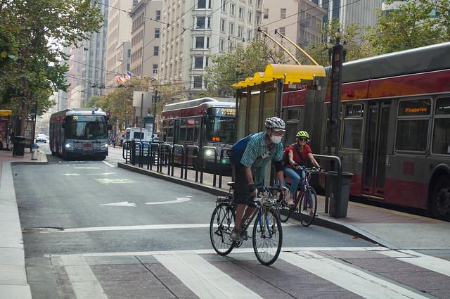 Cyclist on Market street