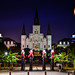 St Louis Cathedral and Jackson Square at Night - New Orleans LA