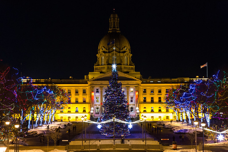 Alberta Legislature Holiday Lights