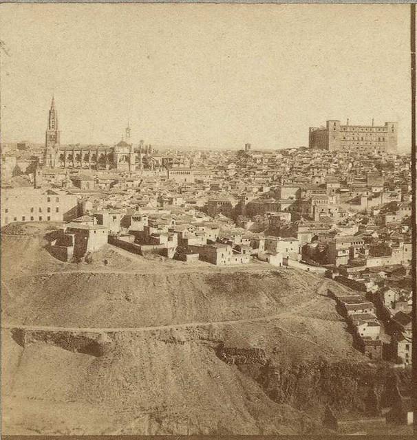 Vista general de Toledo en 1858 por Louis Léon Masson, Biblioteca Nacional