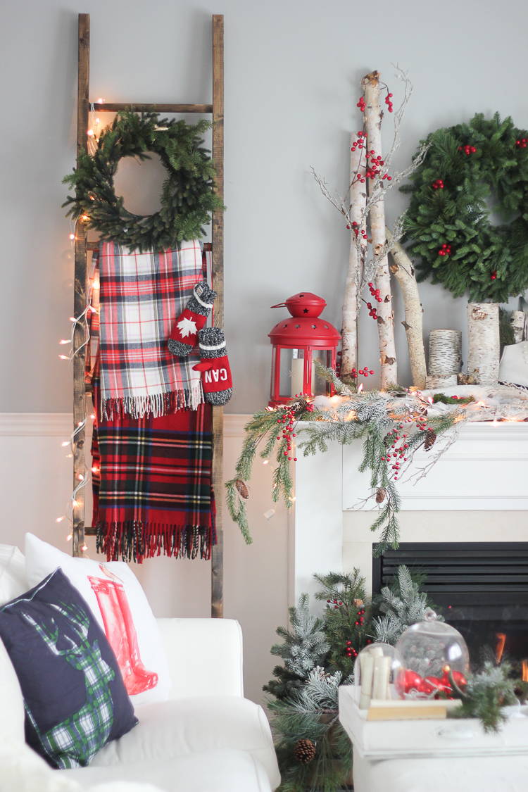 Red Plaid Christmas Decorations Wreaths Clean Preppy Holiday Decor