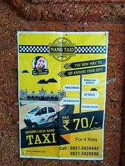 Nano Taxi Ad in Mysore