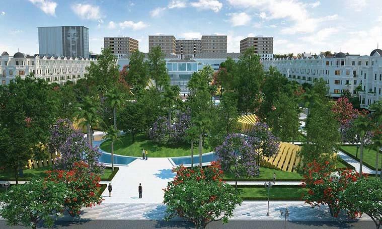 Quảng trường hoa viên chính là niềm tự hào lớn nhất của Cityland Park Hills