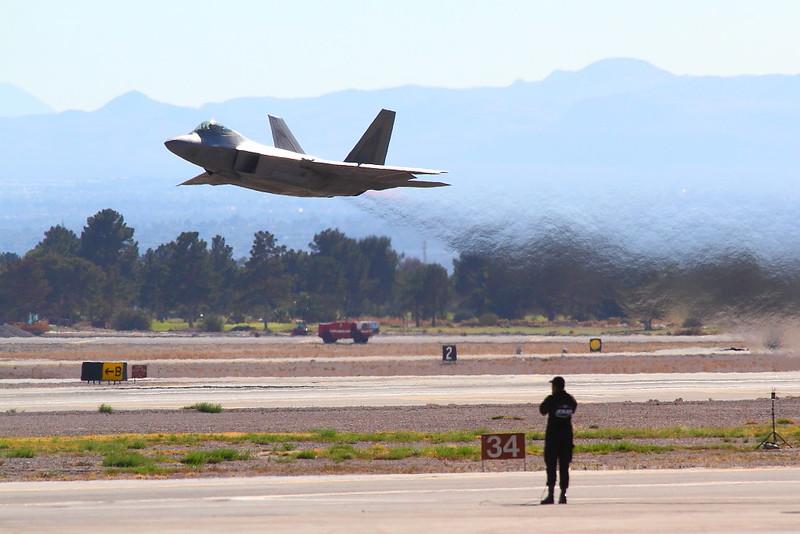 IMG_6492 F-22A Raptor Taking Off