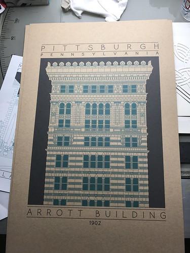 Green Arrott Building print