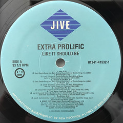 EXTRA PROLIFIC:LIKE IT SHOULD BE(LABEL SIDE-A)