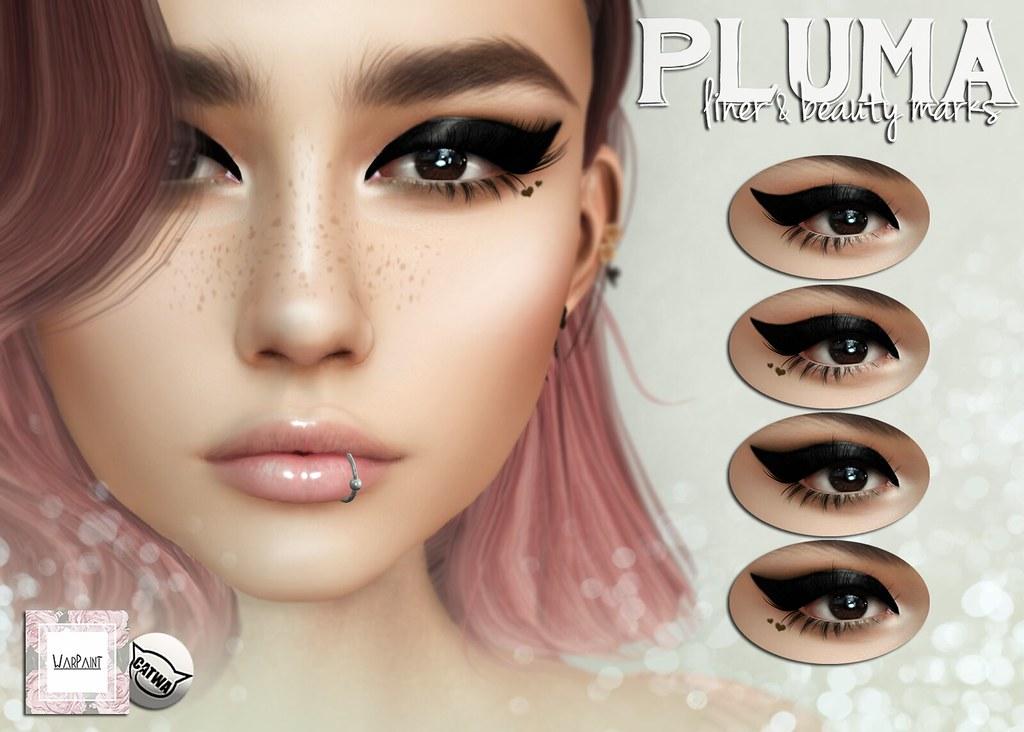 WarPaint* @ 4Mesh – Pluma liner & beauty marks