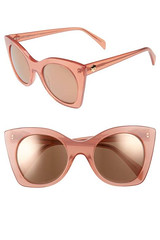 Draper James 51mm Geometric Sunglasses Pink