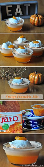 Delicious and EASY to whip up! Orange Creamsicle Jello Recipe! #recipe #dessert #thanksgiving