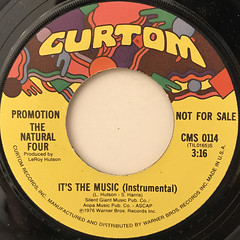 THE NATURAL FOUR:IT'S THE MUSIC(LABEL SIDE-B)