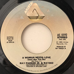 RAY PARKER JR. AND RAYDIO:A WOMAN NEEDS LOVE(JUST LIKE YOU DO)(LABEL SIDE-A)