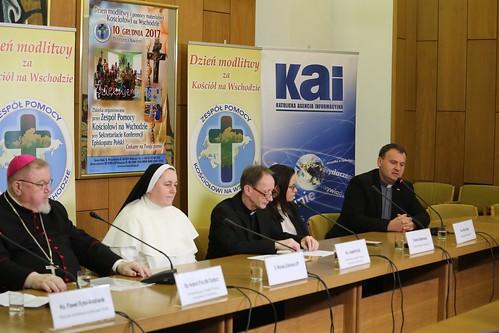 Konferencja prasowa przed XVIII Dniem Modlitwy i Pomocy Materialnej Kościołowi na Wschodzie, Warszawa, 29.12.2017